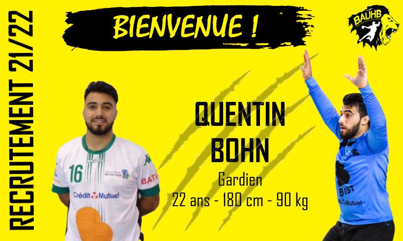 Quentin BOHN rejoint le BAUHB !