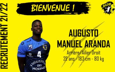 Augusto MANUEL ARANDA rejoint le BAUHB !