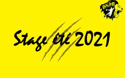 Stage Juillet 2021